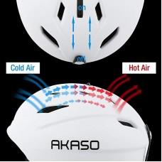 AKASO Ski Helmet, Snowboard Helmet - Climate Control Venting, Dial Fit, Goggles Compatible, Removable Fleece Liner Ear Pads, Safety-Certified Snow Helmet Men & Women