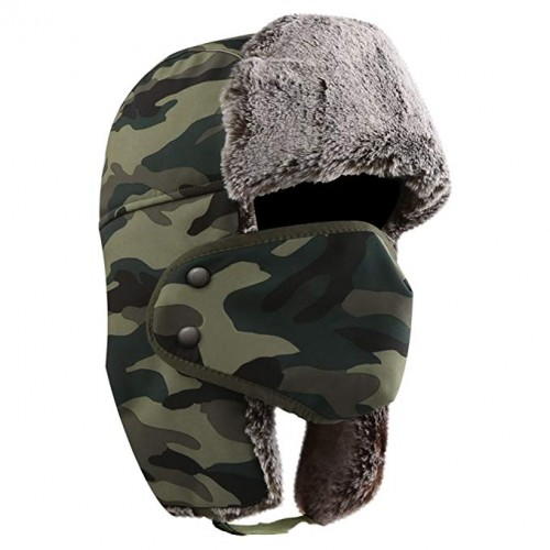 95a3d1d94b506 AKASO Winter Hat with Ear Flaps, Trooper Trapper Hat, Detachable Face Mask,  Windproof Waterproof and Breathable, Faux Fur Ushanka Hunting Hat, Snow Hat  for ...