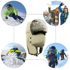 AKASO Winter Hat with Ear Flaps, Trooper Trapper Hat, Detachable Face Mask, Windproof Waterproof and Breathable, Faux Fur Ushanka Hunting Hat, Snow Hat for Men & Women, Free Neck Gaiter Included